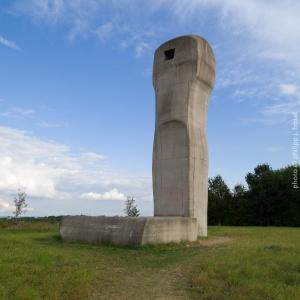 Neuss-Holzheim, ca. 2005. Skulptur Begiari von Eduardo Chillida